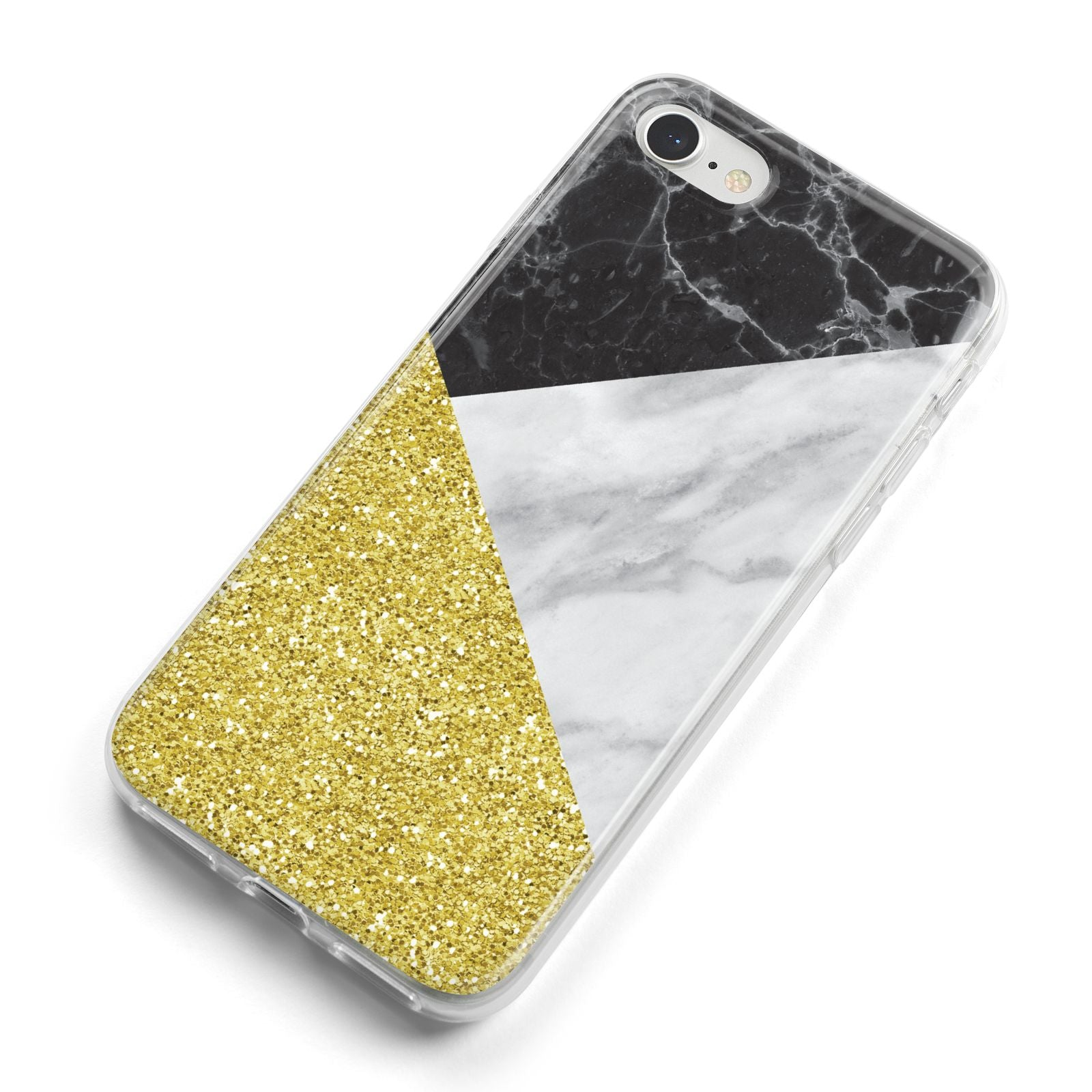 Marble Black Gold iPhone 8 Bumper Case on Silver iPhone Alternative Image