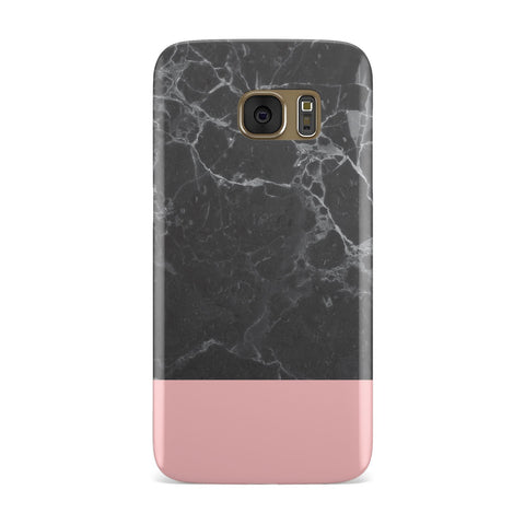 Marble Black & Pink Samsung Galaxy Case