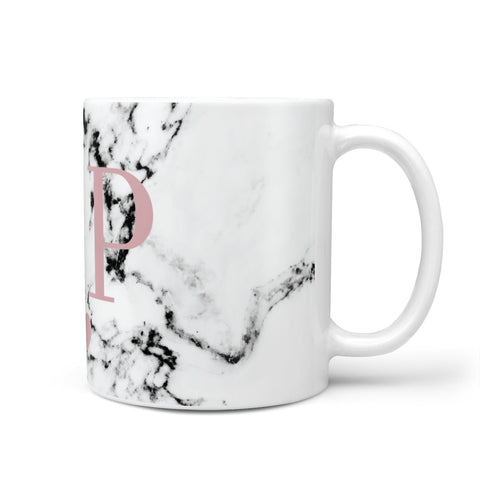 Marble Blush Pink Heart Personalised Mug