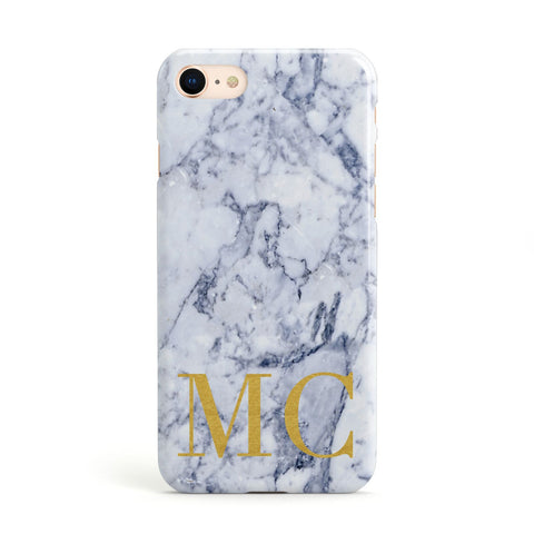 Marble Gold Initial Personalised Apple iPhone Case