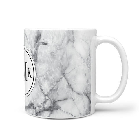 Marble Initials Circle Personalised Mug