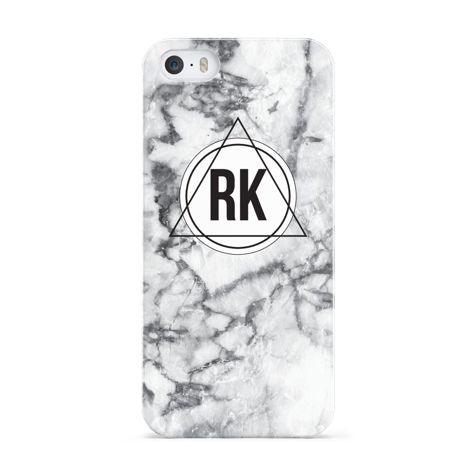 Marble Initials Triangle Personalised Apple iPhone 5 Case