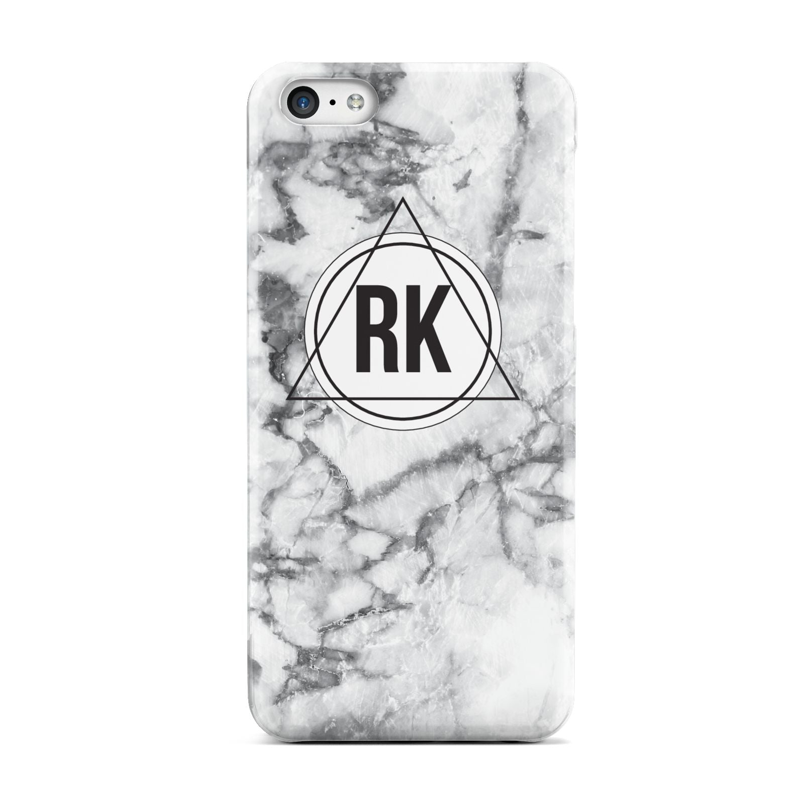 Marble Initials Triangle Personalised Apple iPhone 5c Case