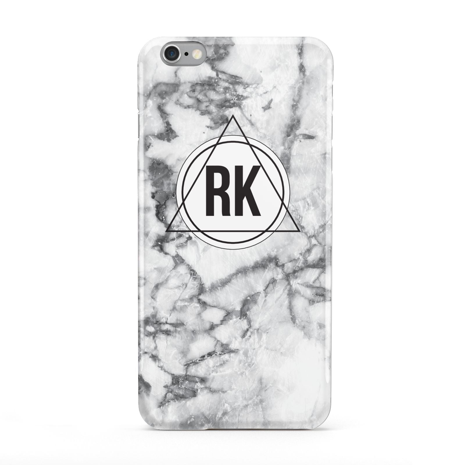 Marble Initials Triangle Personalised Apple iPhone 6 Plus Case