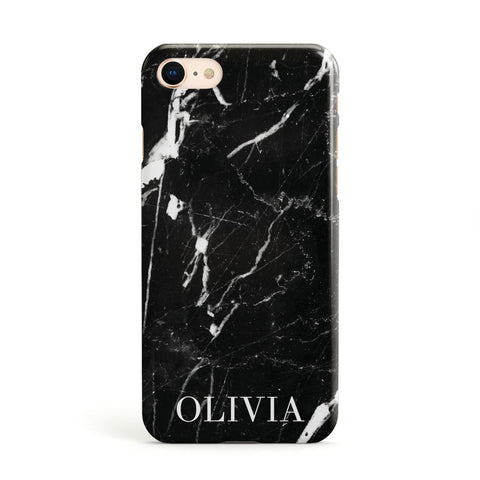 Marble Name Personalised Apple iPhone Case