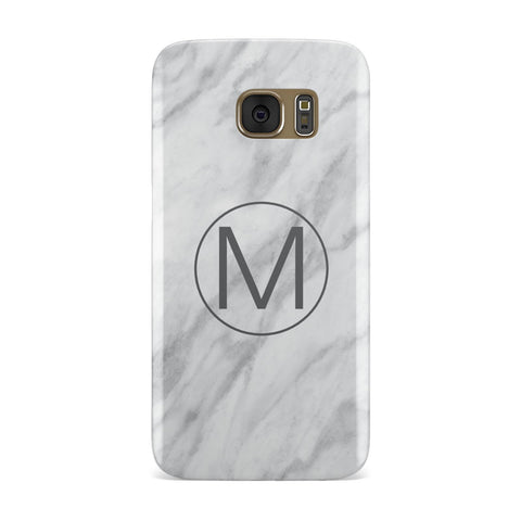 Marble Personalised Monogram Samsung Galaxy Case