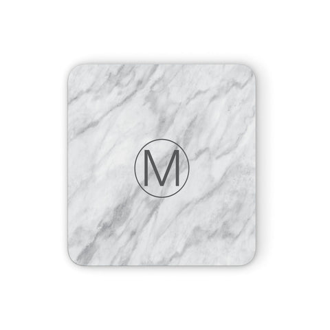 Marble Personalised Initial Coasters set of 4