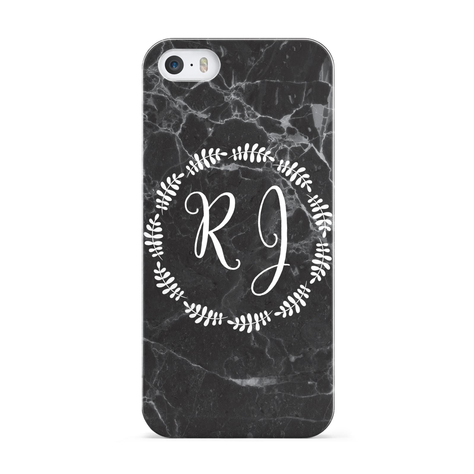 Marble Personalised Initials Apple iPhone 5 Case