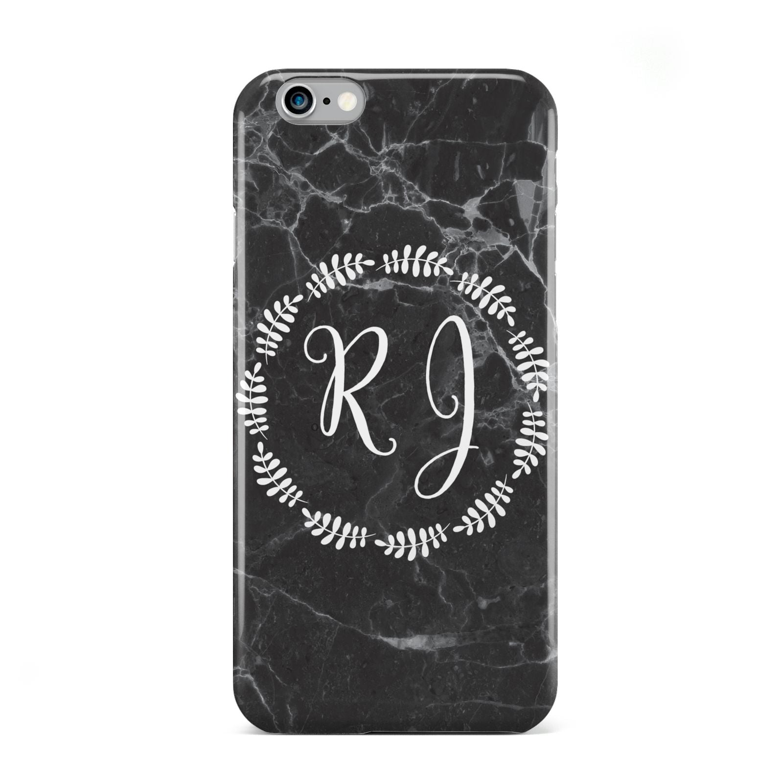 Marble Personalised Initials Apple iPhone 6 Case