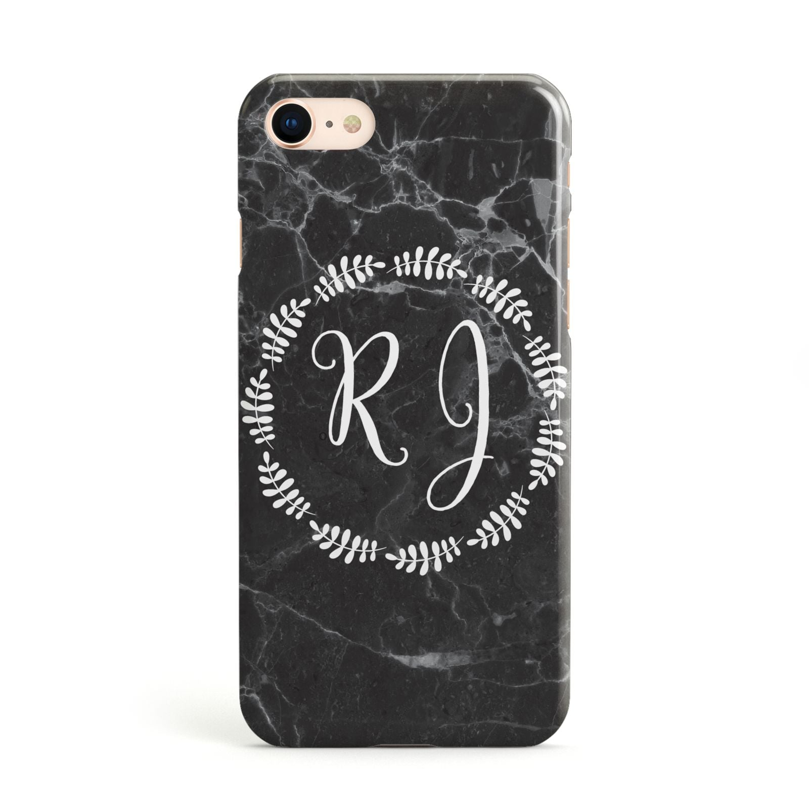 Marble Personalised Initials Apple iPhone Case