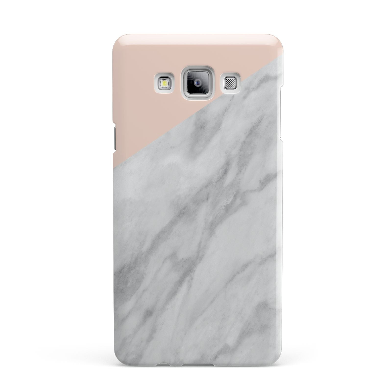 Marble Pink White Grey Samsung Galaxy A7 2015 Case