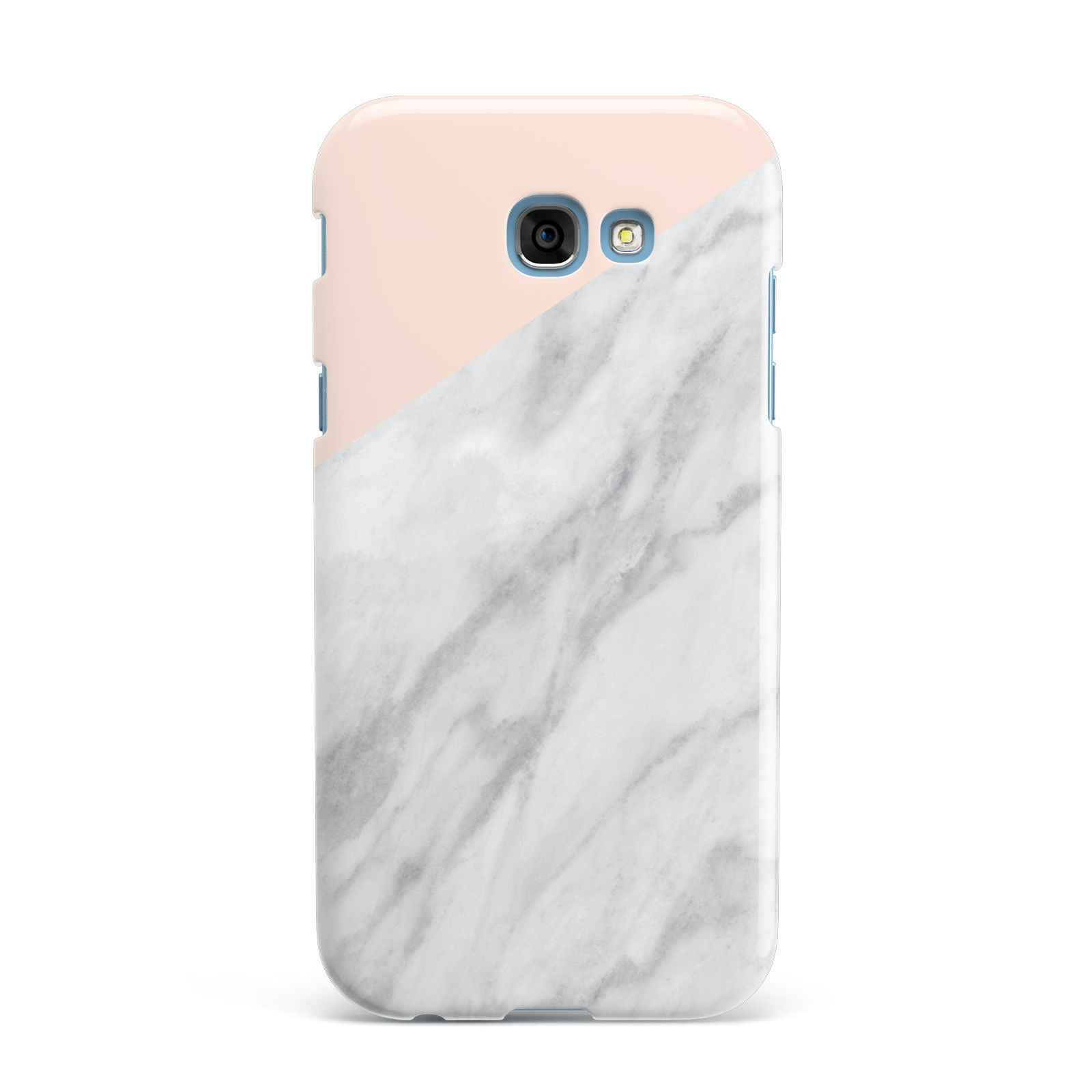 Marble Pink White Grey Samsung Galaxy A7 2017 Case