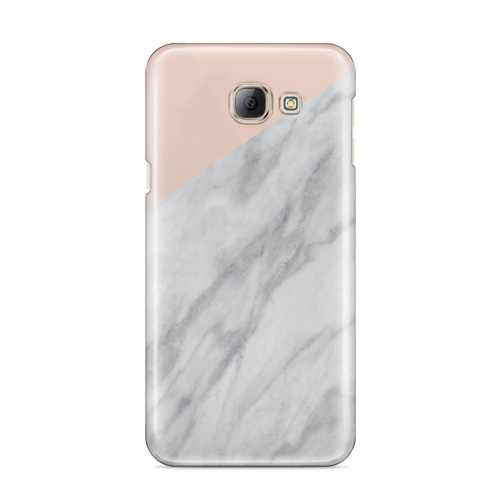 Marble Pink White Grey Samsung Galaxy A8 2016 Case