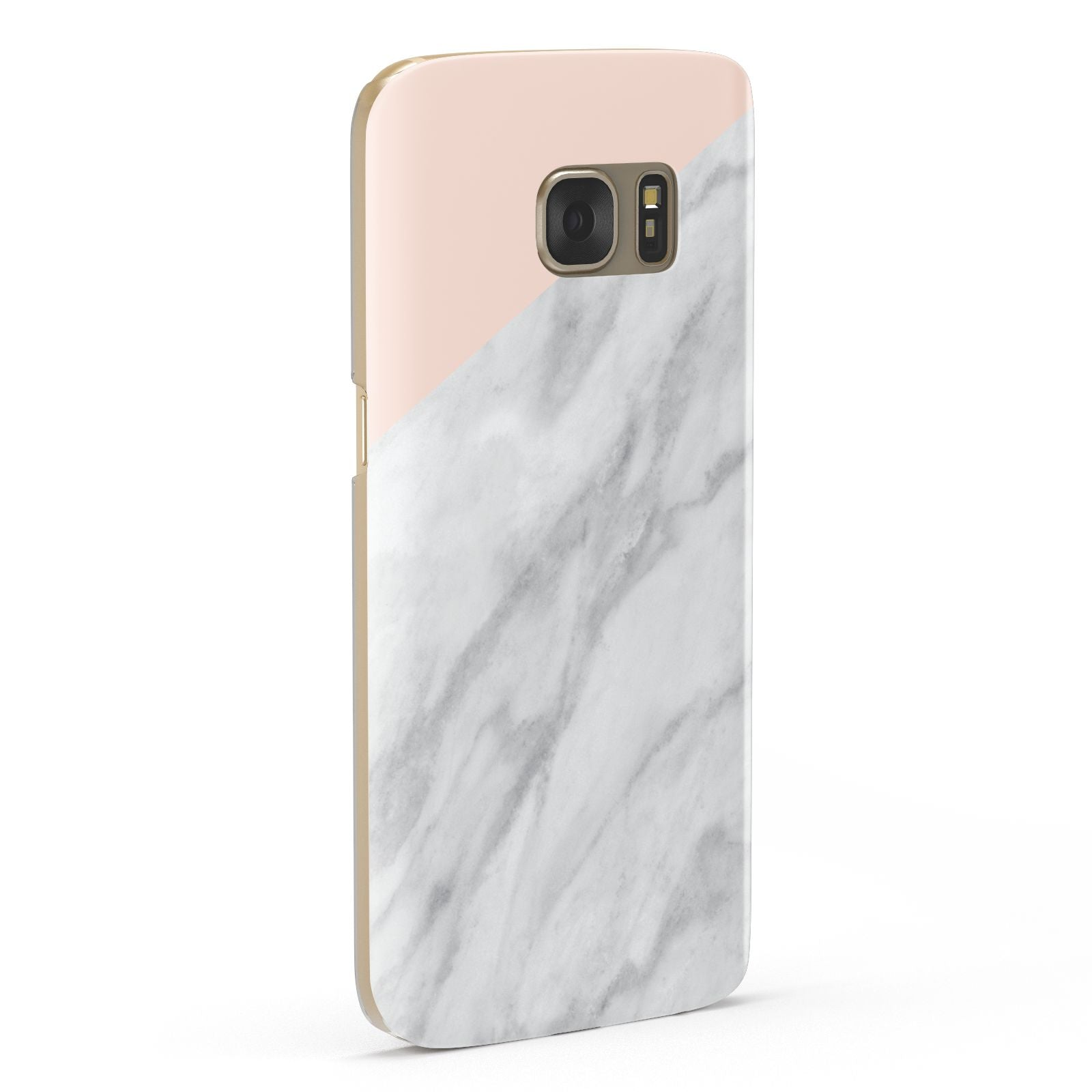 Marble Pink White Grey Samsung Galaxy Case Fourty Five Degrees