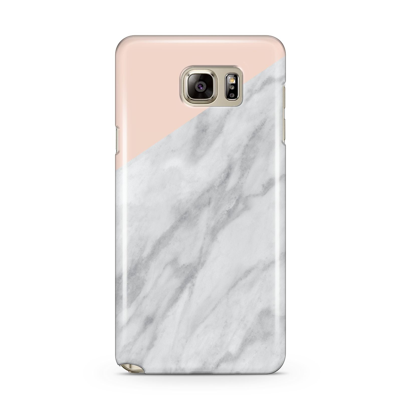 Marble Pink White Grey Samsung Galaxy Note 5 Case