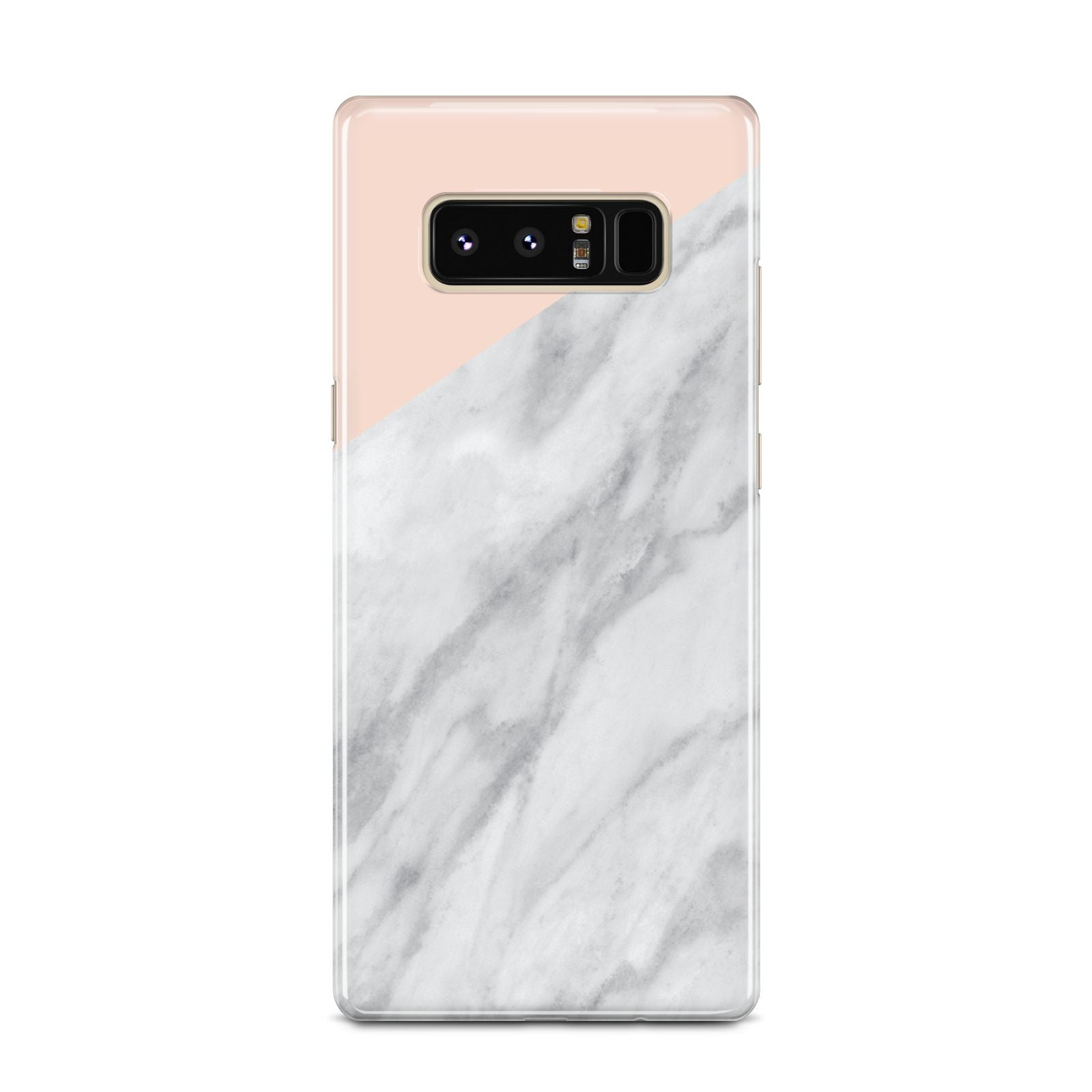 Marble Pink White Grey Samsung Galaxy Note 8 Case