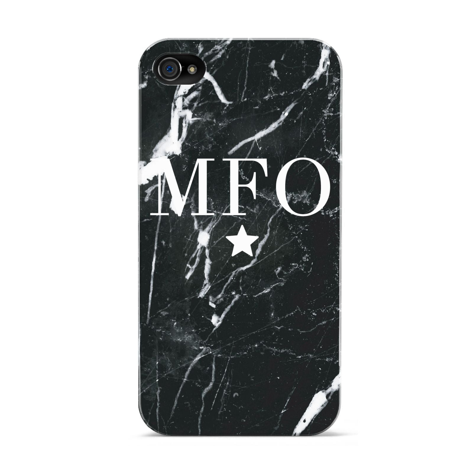 Marble Star Initials Personalised Apple iPhone 4s Case