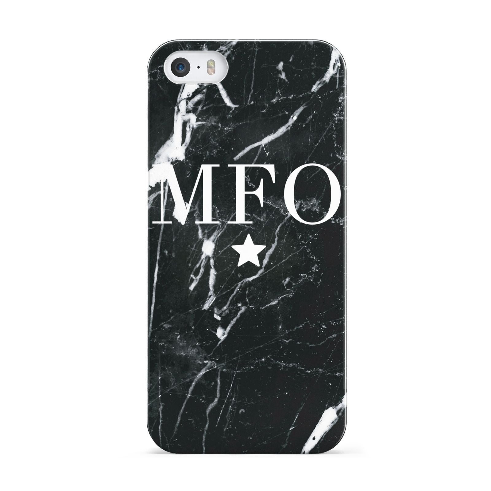 Marble Star Initials Personalised Apple iPhone 5 Case