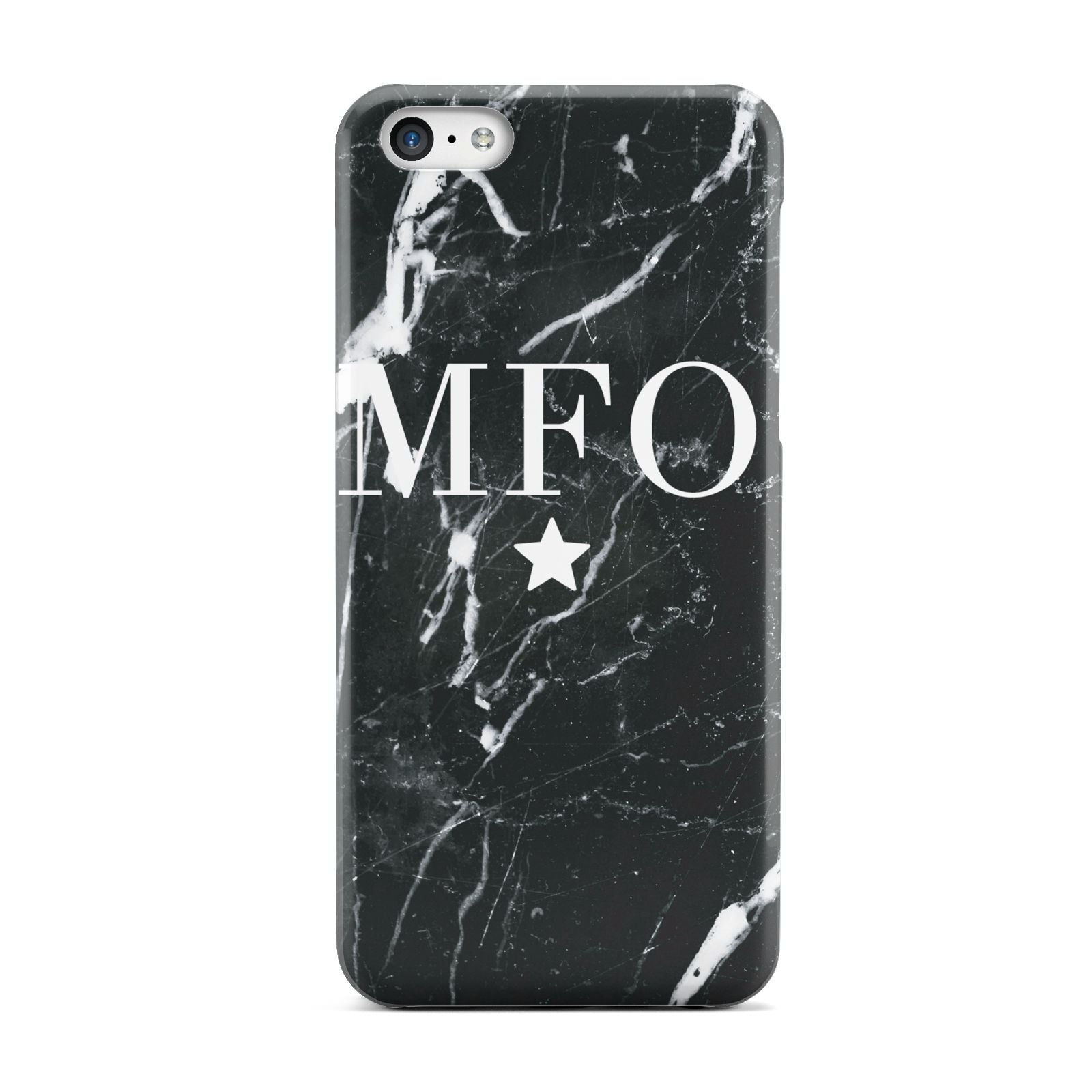 Marble Star Initials Personalised Apple iPhone 5c Case