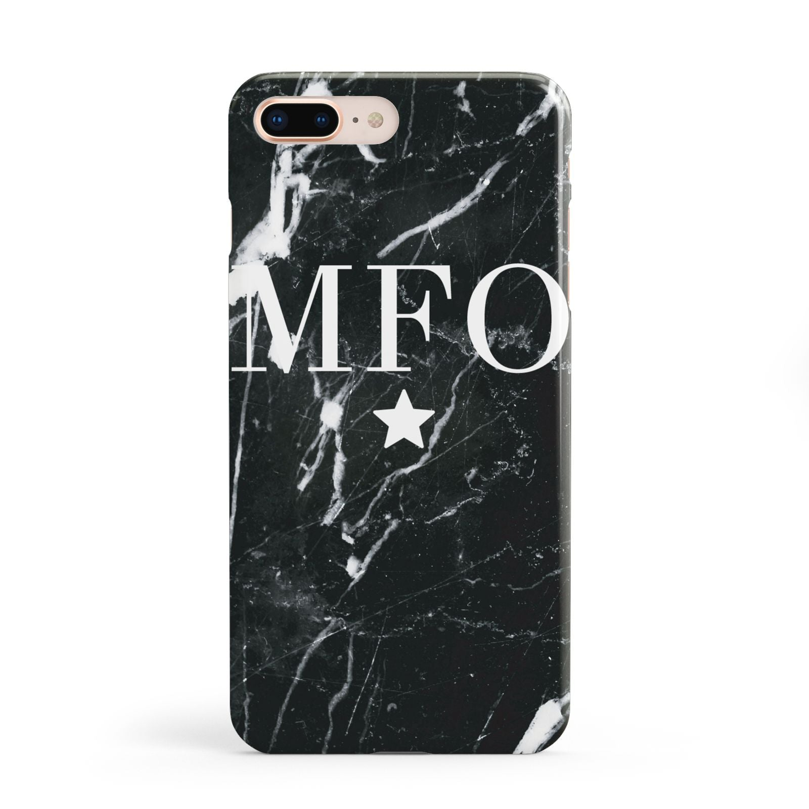 Marble Star Initials Personalised Apple iPhone 8 Plus Case