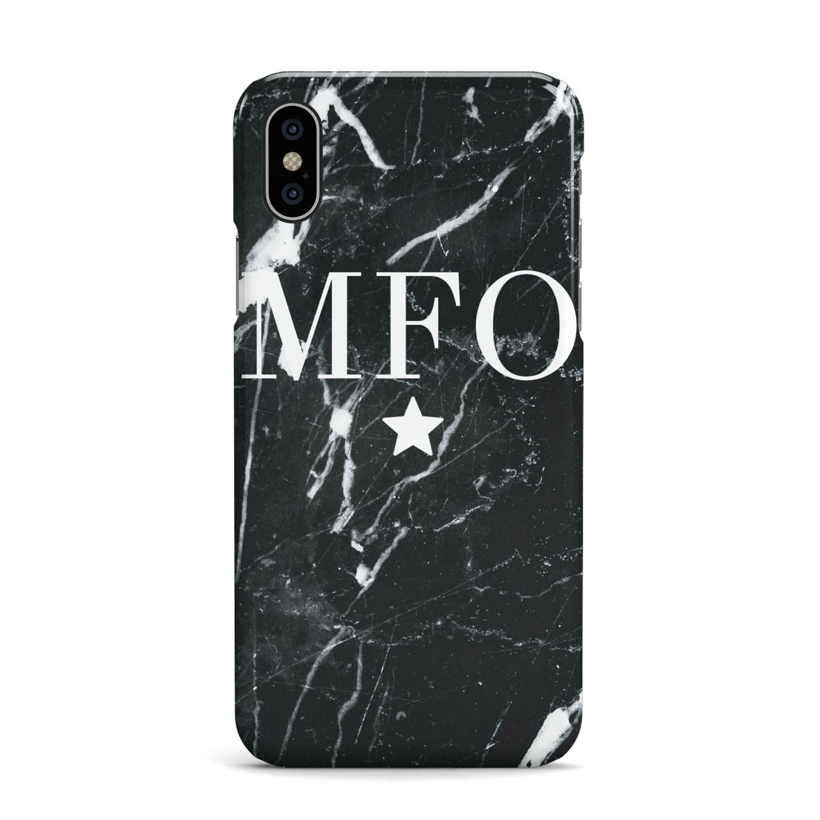 Marble Star Initials Personalised Apple iPhone X Case