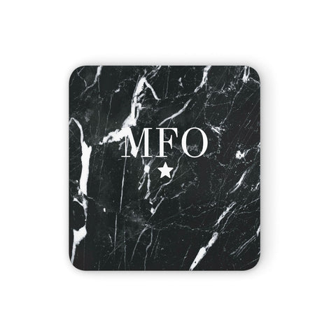 Marble Star Initials Personalised Coasters set of 4