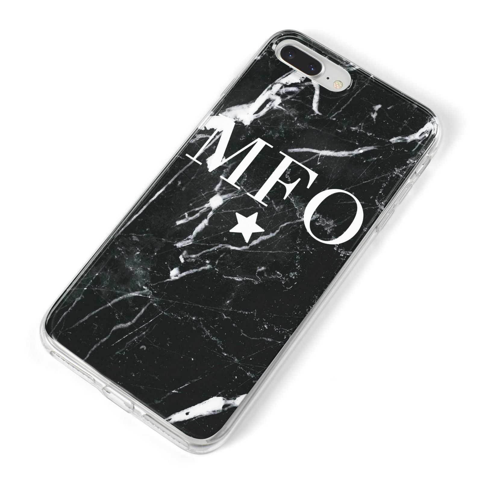 Marble Star Initials Personalised iPhone 8 Plus Bumper Case on Silver iPhone Alternative Image