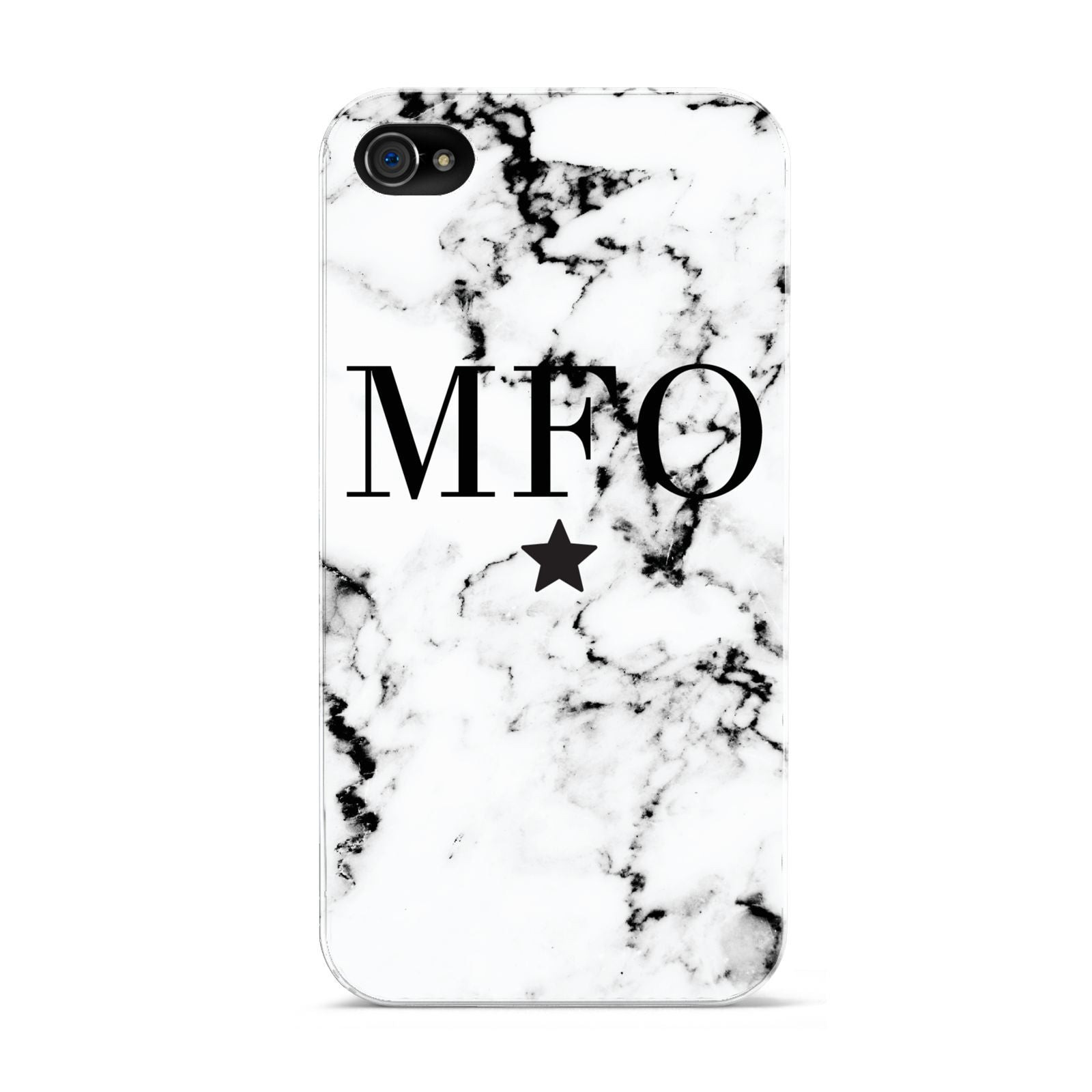 Marble Star Personalised Initials Apple iPhone 4s Case