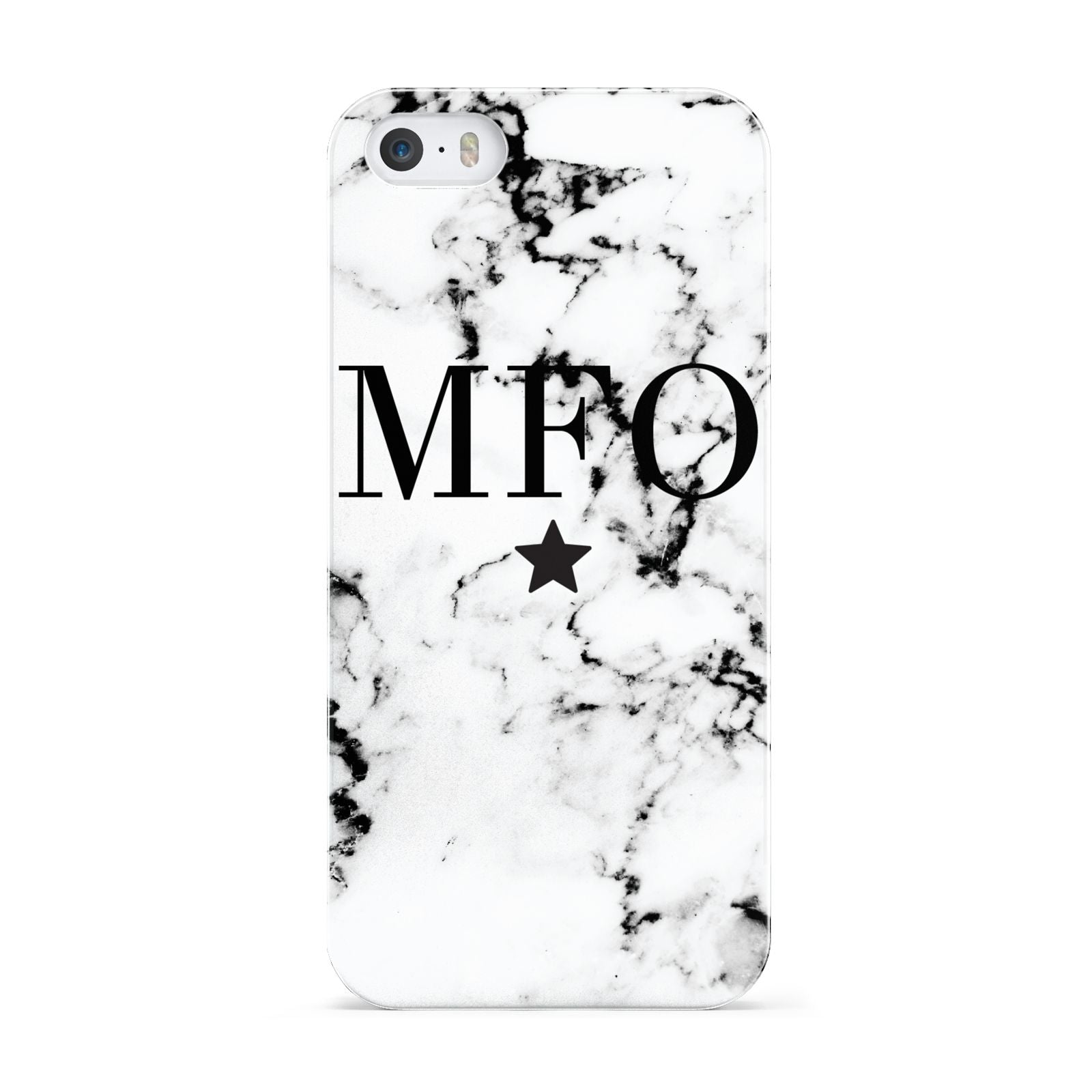 Marble Star Personalised Initials Apple iPhone 5 Case