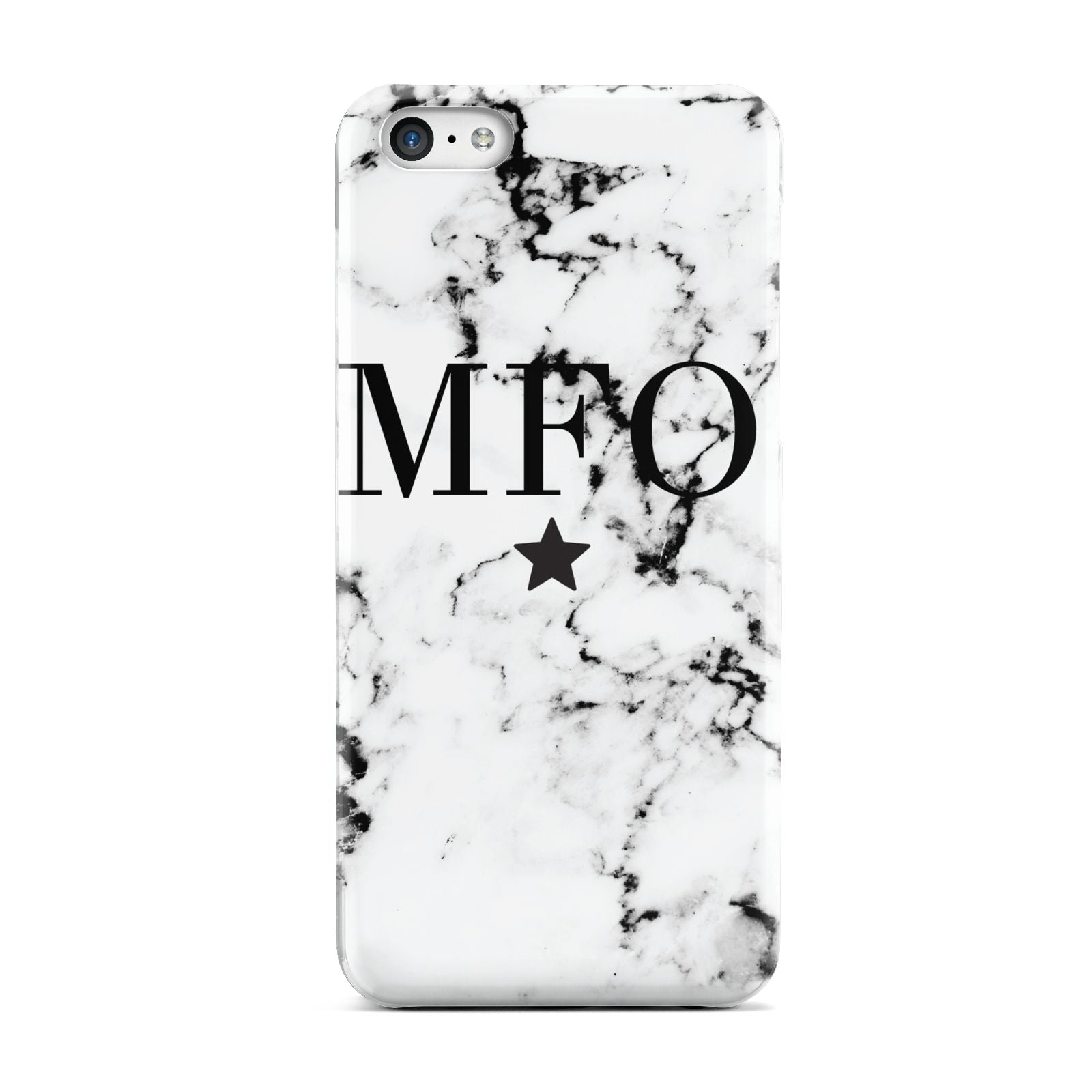 Marble Star Personalised Initials Apple iPhone 5c Case