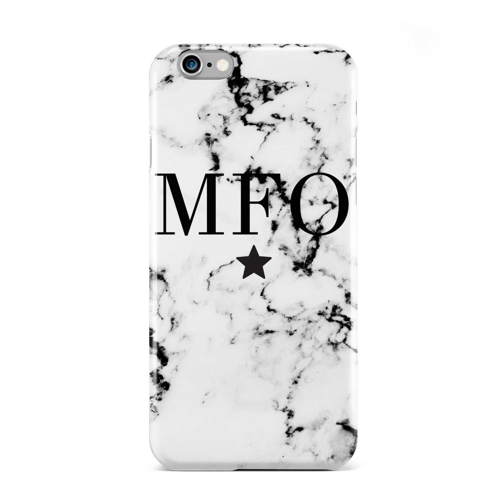 Marble Star Personalised Initials Apple iPhone 6 Case