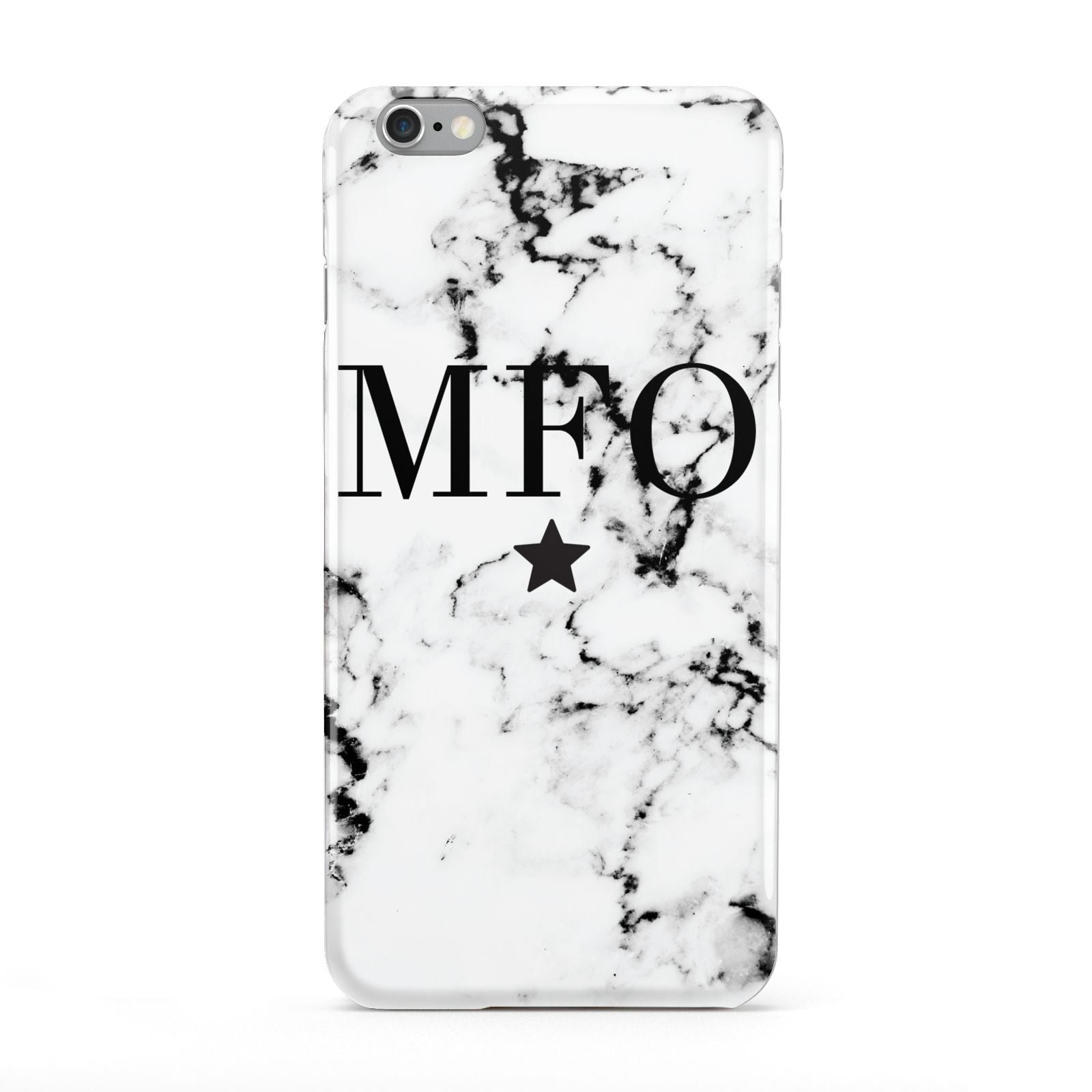 Marble Star Personalised Initials Apple iPhone 6 Plus Case