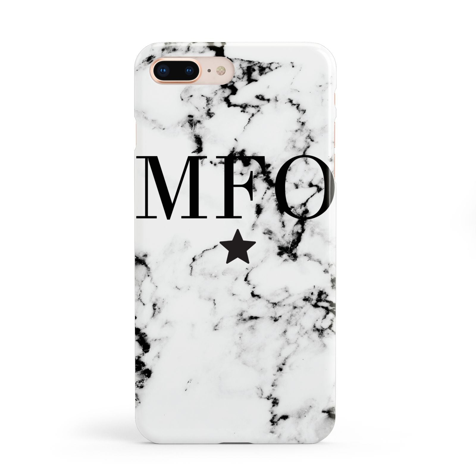 Marble Star Personalised Initials Apple iPhone 8 Plus Case