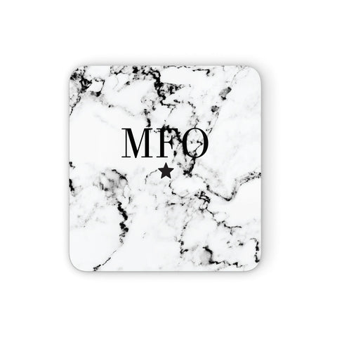 Marble Star Personalised Initials Coasters set of 4