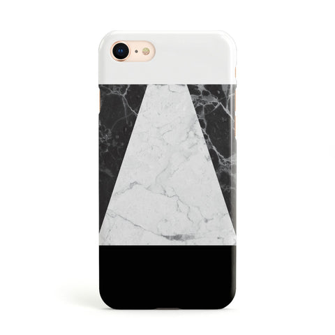 Marble White & Black Apple iPhone Case