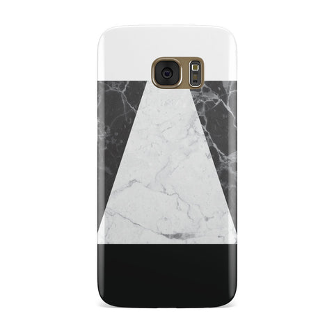 Marble White & Black Samsung Galaxy Case