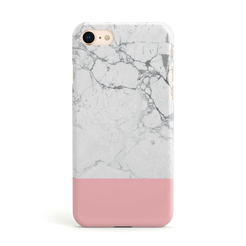 Marble White Carrara Pink Apple iPhone Case