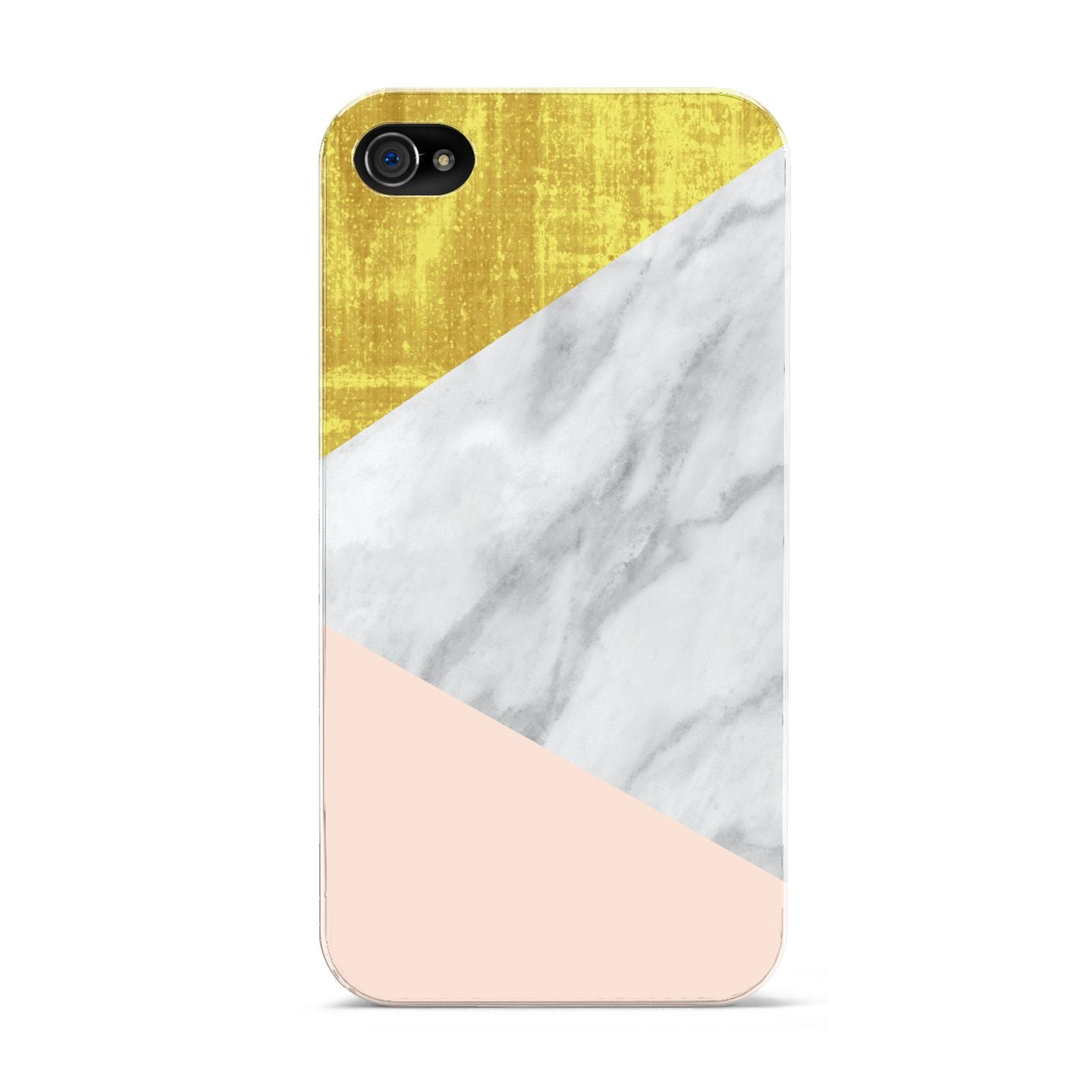 Marble White Gold Foil Peach Apple iPhone 4s Case