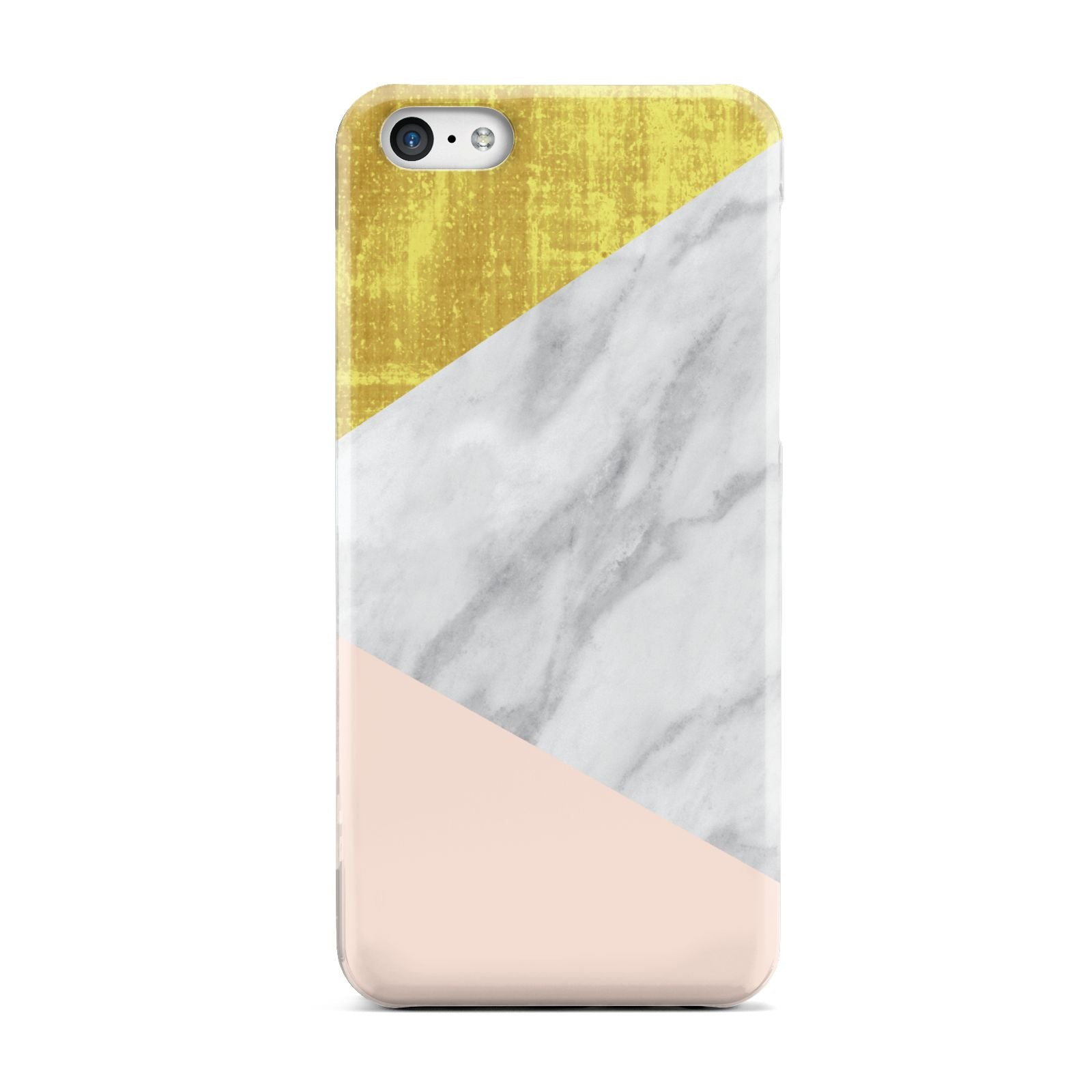 Marble White Gold Foil Peach Apple iPhone 5c Case