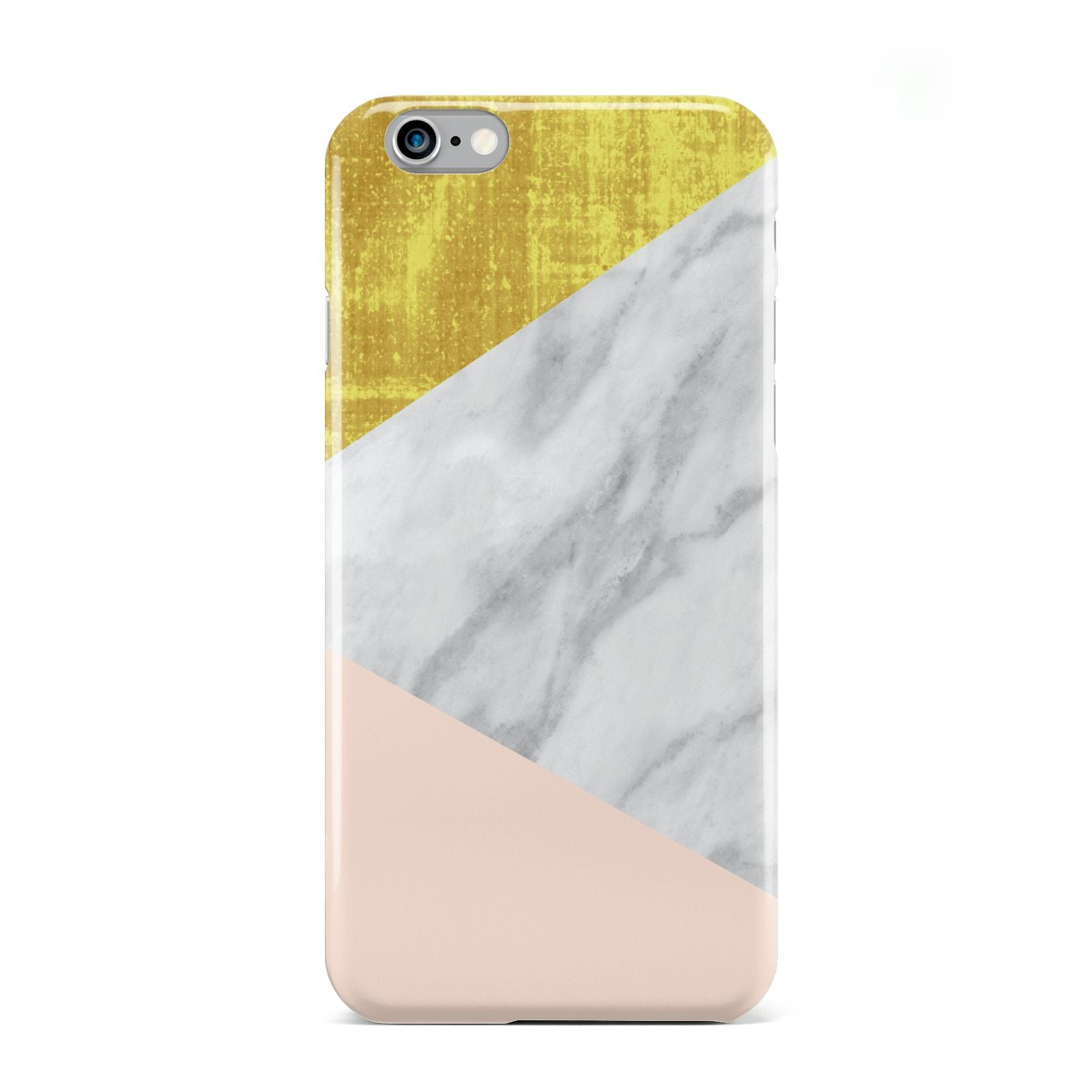 Marble White Gold Foil Peach Apple iPhone 6 Case