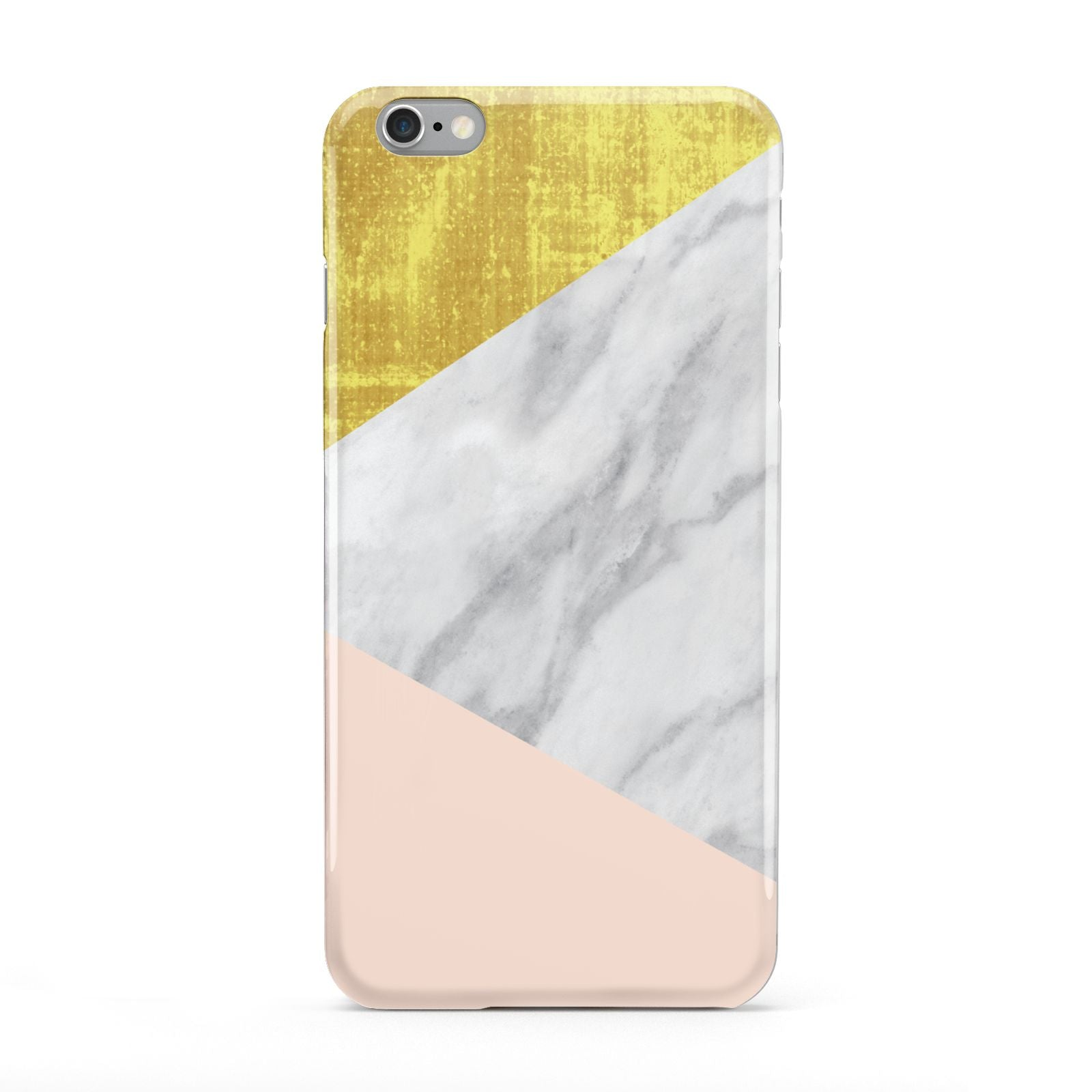 Marble White Gold Foil Peach Apple iPhone 6 Plus Case