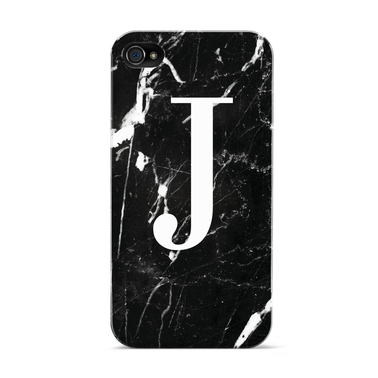 Marble White Initial Personalised Apple iPhone 4s Case