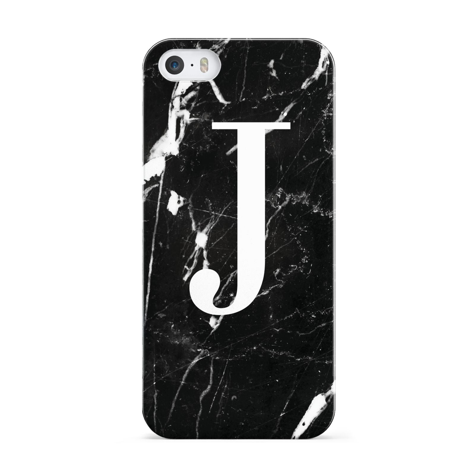 Marble White Initial Personalised Apple iPhone 5 Case