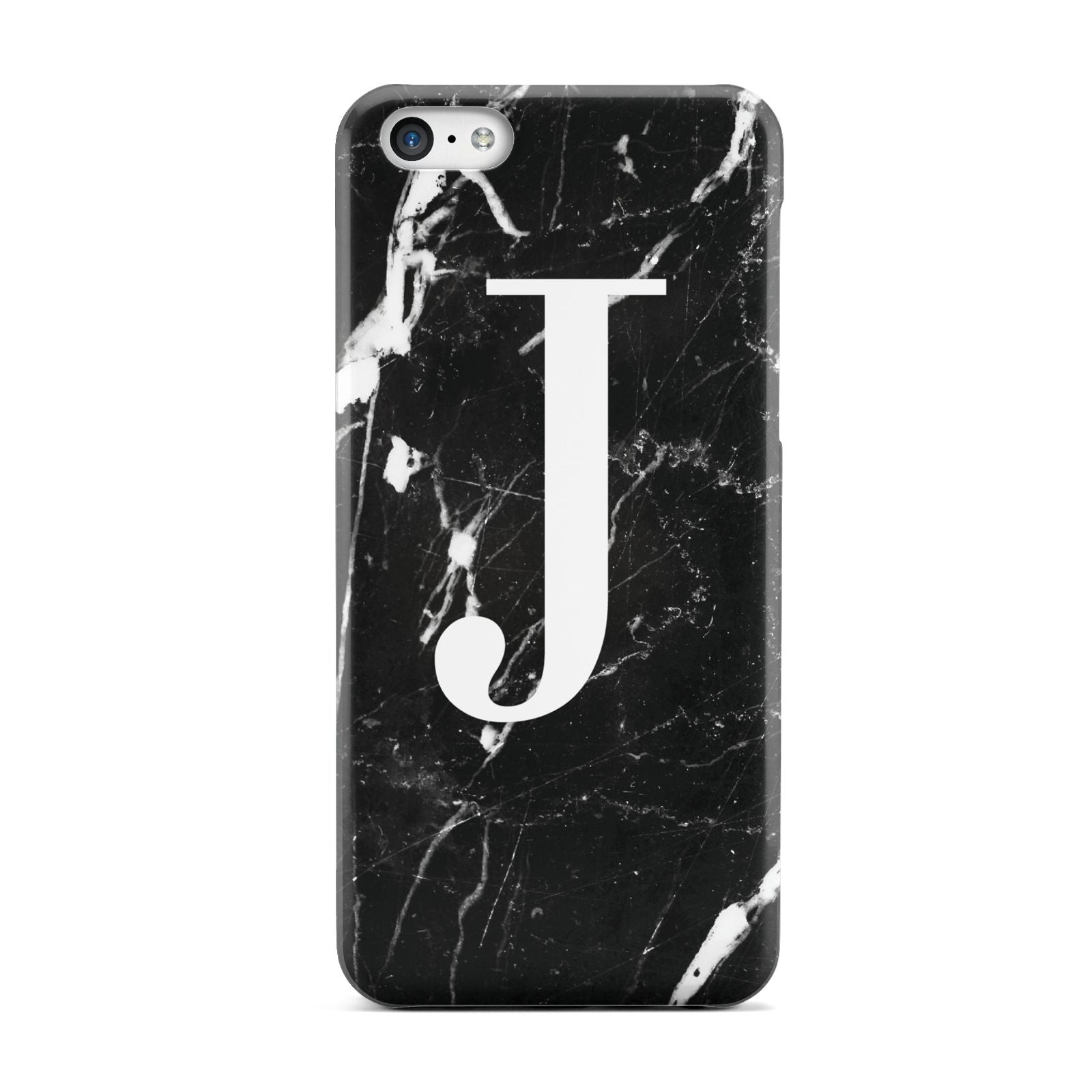 Marble White Initial Personalised Apple iPhone 5c Case