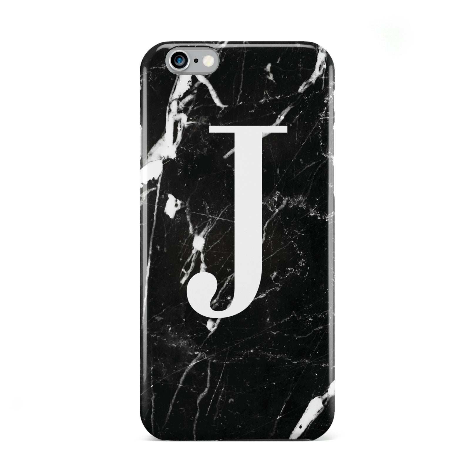 Marble White Initial Personalised Apple iPhone 6 Case