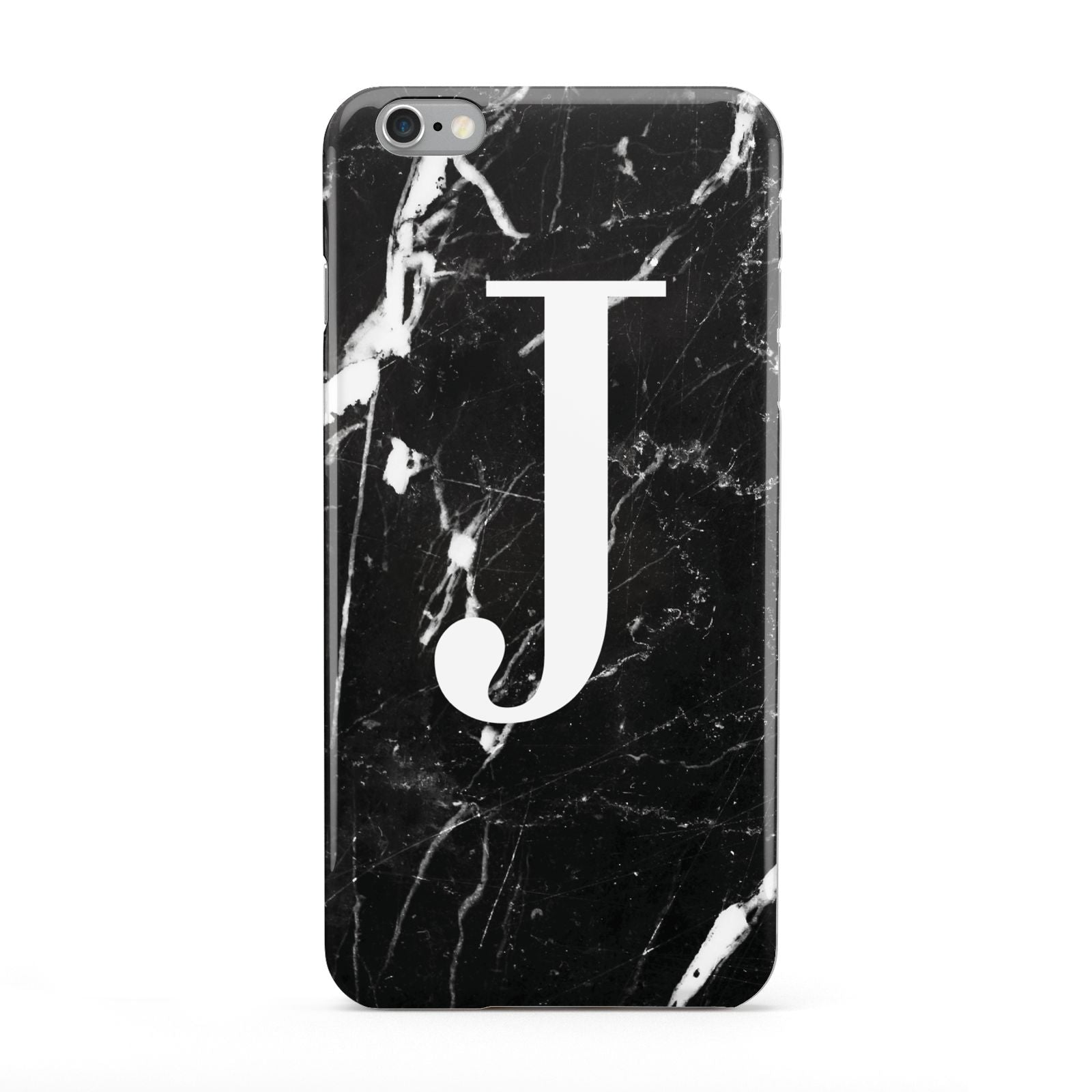 Marble White Initial Personalised Apple iPhone 6 Plus Case