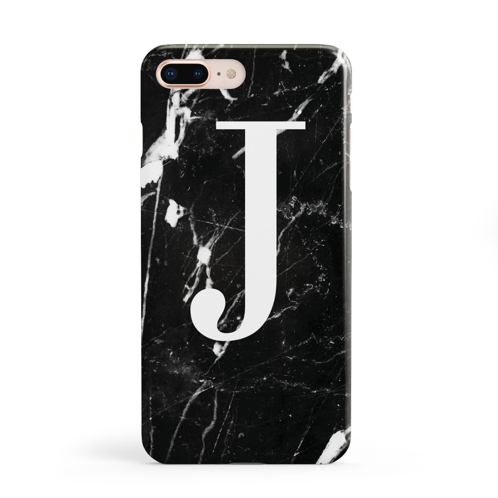 Marble White Initial Personalised Apple iPhone 8 Plus Case