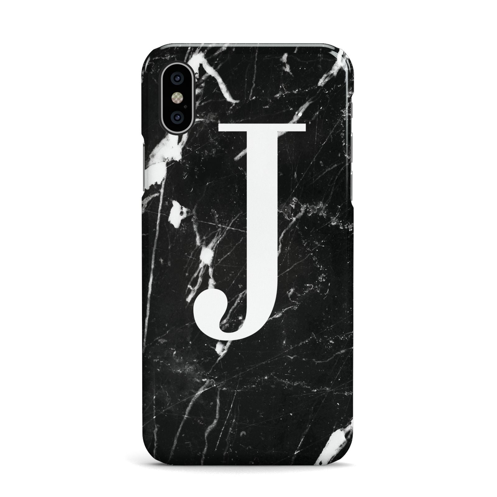 Marble White Initial Personalised Apple iPhone X Case