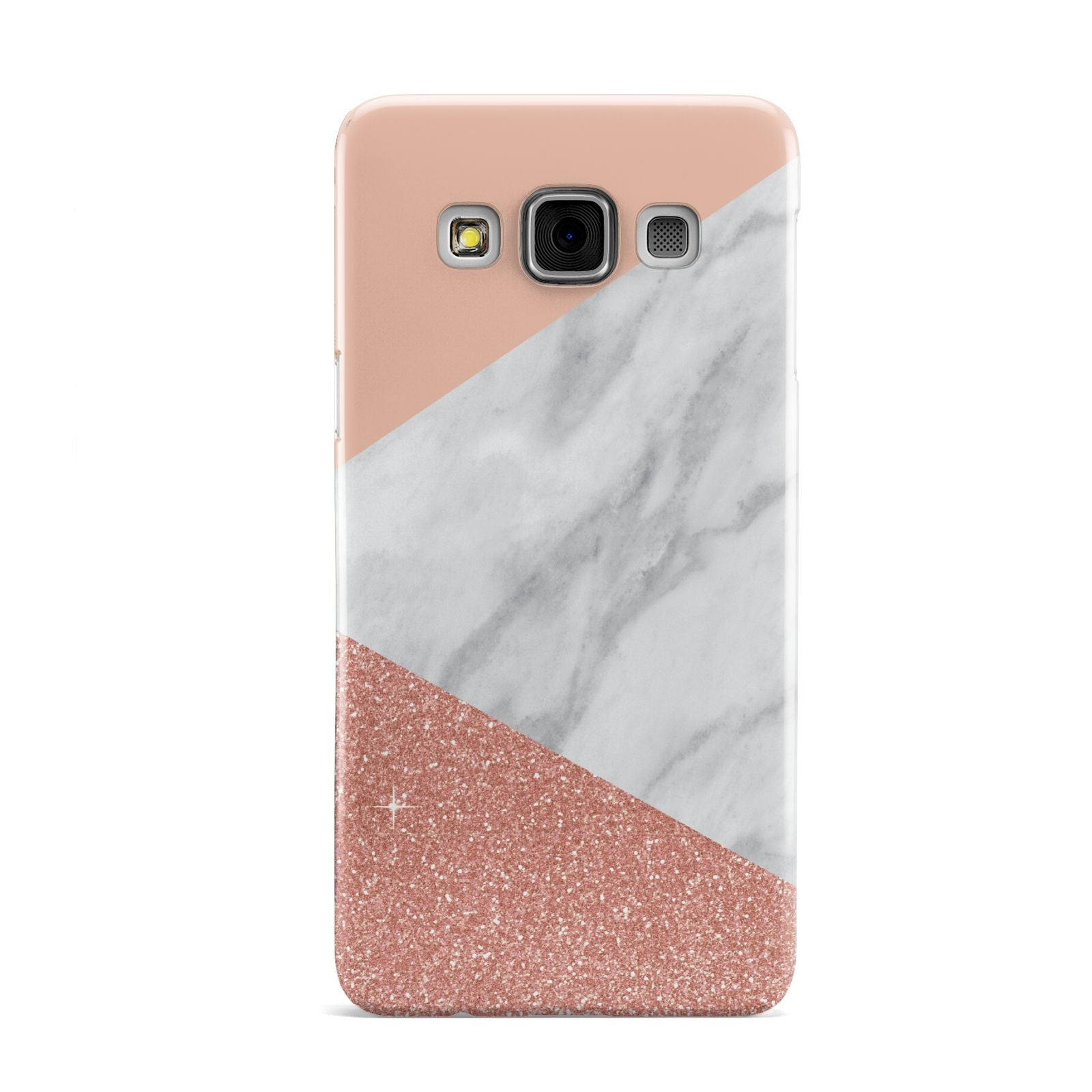 Marble White Rose Gold Samsung Galaxy A3 Case