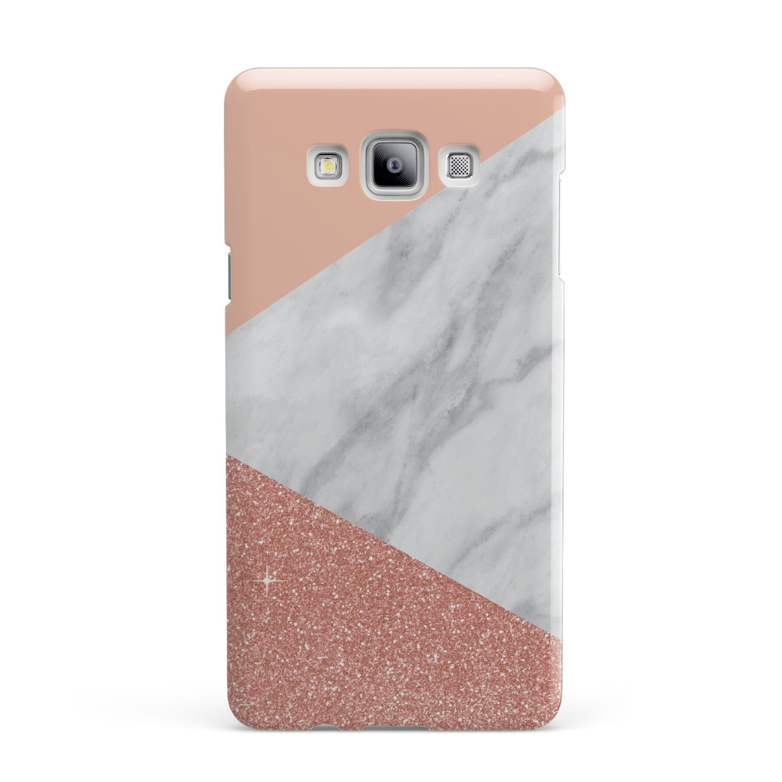 Marble White Rose Gold Samsung Galaxy A7 2015 Case